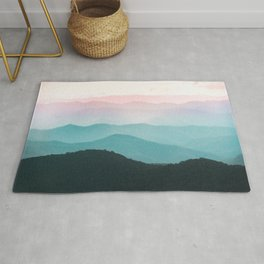 Smoky Mountain National Park Sunset Layers III - Nature Photography Rug