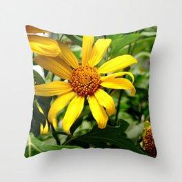 yellow daisys Throw Pillow