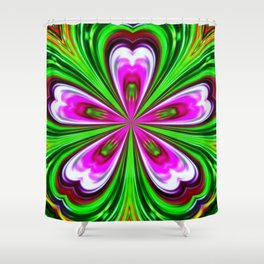 Abstract - Petals Shower Curtain