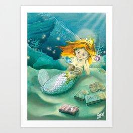 How mermaids get new books Art Print
