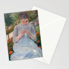 Mary Cassatt - Girl in the Garden Stationery Cards