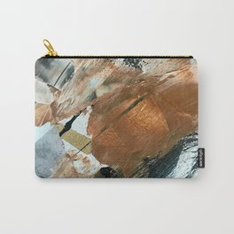 Chocolate Kisses [2]: A bold, minimal, abstract piece in pink, gold, brown, black and white Carry-All Pouch