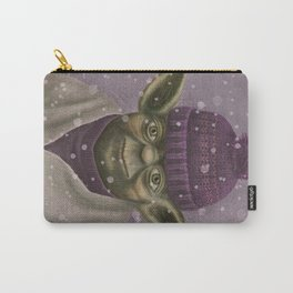 Christmas Yoda (fiolet) Carry-All Pouch