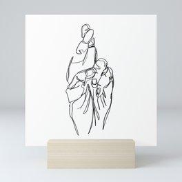sketch- hopeful Mini Art Print