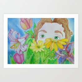 You can find me in the Garden Art Print