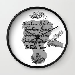Claire Beauchamp Randall Fraser Wall Clock