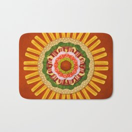 Bacon Cheeseburger with Fries Mandala Bath Mat