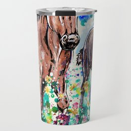 Mare and Foal Travel Mug