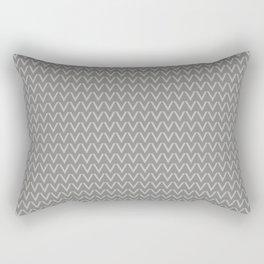 Chevron V Shapes Horizontal Lines Benjamin Moore 2019 Color of the Year Metropolitan Light Gray AF-6 Rectangular Pillow