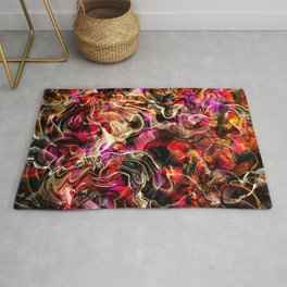 Hippie color blend abstract Rug