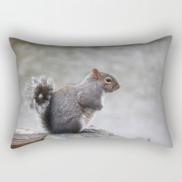 Observant Squirrel  Rectangular Pillow