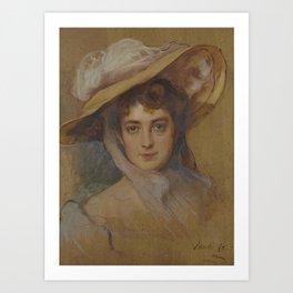 Philip Alexius de Laszlo de Lombos , La Duchesse de Clermont-Tonnerre, née Elisabeth de Gramont, hea Art Print
