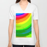pride V-neck T-shirts featuring Pride by Vix Edwards - Fugly Manor Art