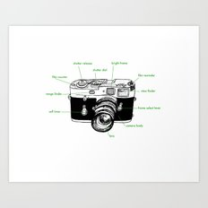 leica diagram Art Print