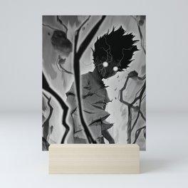 Mob Psycho 100 BW Mini Art Print