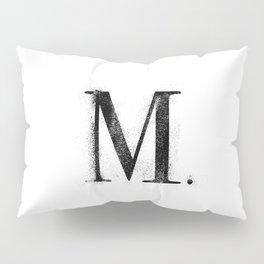 M. - Distressed Initial Pillow Sham