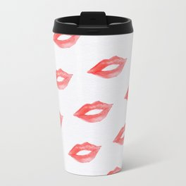 Ruby lips Metal Travel Mug