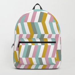 Yellow, Pink and Blue | Geometric Pattern Backpack