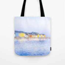 Misty Morning On The Shores Of Galway Ireland Tote Bag