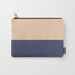 Apricot/Delft Carry-All Pouch