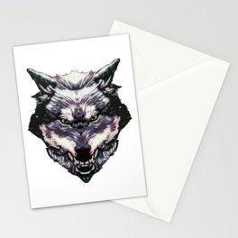WereWolf Face King - 02 Color Stationery Cards