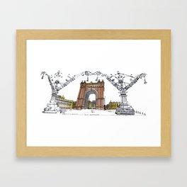Arc de Triomf de Barcelona Framed Art Print
