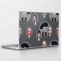 dia de los muertos Laptop & iPad Skins featuring Dia de Los Muertos by Julie's Fabrics & Thingummies