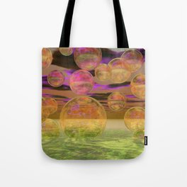 Peace in the Storm - Abstract Bronze Tranquility Tote Bag