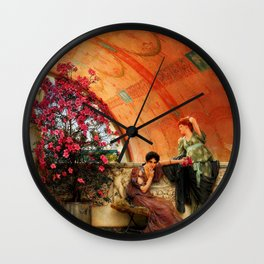 "Sir Lawrence Alma-Tadema ""Unconscious Rivals"" Wall Clock"