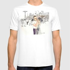 Ghost of Coney Island White MEDIUM Mens Fitted Tee
