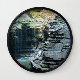 Rainy Glen Wall Clock