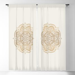 Mandala Beige Creamy Pattern 1 Blackout Curtain