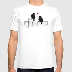 Love Birds MEDIUM Mens Fitted Tee White