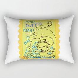 lama goloso di dolci Rectangular Pillow