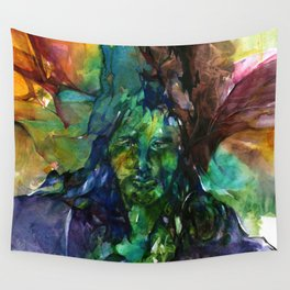 Green Man by Kathy Morton Stanion Wall Tapestry