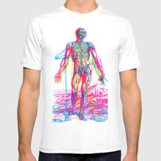 Andreae Vesalii RGB 2 Mens Fitted Tee MEDIUM White