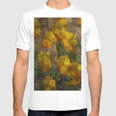 Tulips background MEDIUM Mens Fitted Tee White