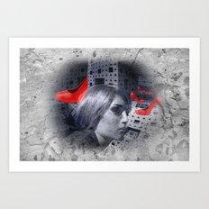 red highheels -2- new upload Art Print