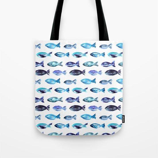 Sardines swimming to Sardegna Tote Bag