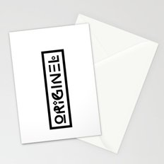 Originel noir Stationery Cards