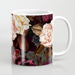 Vintage & Shabby Chic - Midnight Rose and Peony Garden Coffee Mug