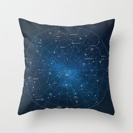 Constellation Star Map Throw Pillow