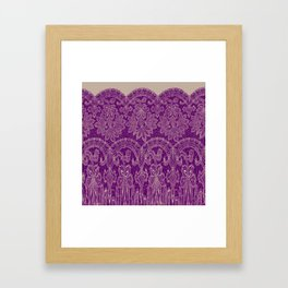 lace border stretched in purple Framed Art Print