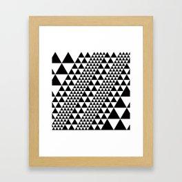 Geometric Pattern #39 (black triangles) Framed Art Print