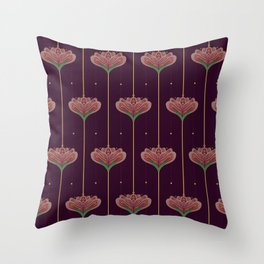 Wallpaper Floral Pattern In Style OF William Morris Throw Pillow