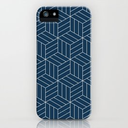 Japanese inspired blue pattern iPhone Case
