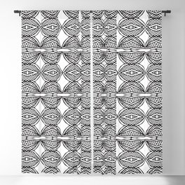 African ethnic geometric pattern 1 Blackout Curtain
