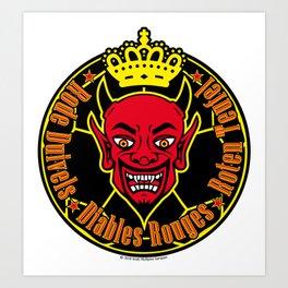 Belgium - de Rode Duivels, les Diables Rouges, or die Roten Teufel (The Red Devils) ~Group G~ Art Print
