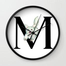 Dog Monogram Collection M Wall Clock