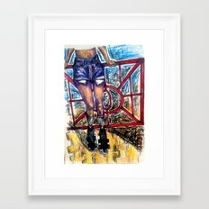 Teenage Sk8land Framed Art Print